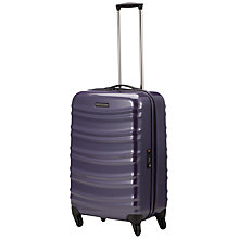 Buy John Lewis Verona 4-Wheel Cabin Suitcase, Purple Online at johnlewis.com