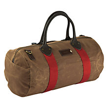 Buy Property Of ... Rafe Boston Waxed Cotton Holdall, Tan Online at johnlewis.com