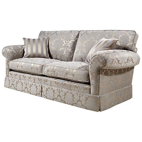 Buy Duresta Burghley Large Sofa, Oscar Damask Silver Online at johnlewis.com