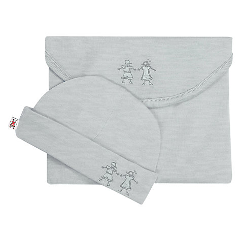 Buy Merino Kids Babywrap Newborn Baby Swaddle Blanket and Hat Online at johnlewis.com
