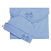 Buy Cocooi Babywrap Newborn Baby Swaddle Blanket and Hat, Banbury Blue Online at johnlewis.com