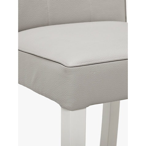 Buy John Lewis Simone Leather Bar Chair, Grey Online at johnlewis.com