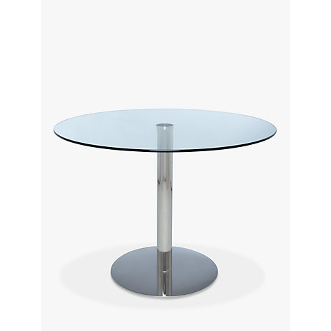 Buy John Lewis Enzo 4 Seater Round Glass Top Dining Table