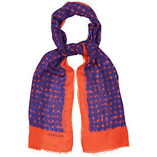 Buy Jaeger Printed Spot Scarf, Multi Online at johnlewis.com