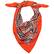 Buy Jaeger Woven Basket Print Scarf, Red Online at johnlewis.com