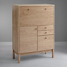 Buy John Lewis Kensington Bureau, Oak/Walnut Online at johnlewis.com