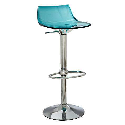 John Lewis Led Bar Stool New Blue Clear Rrp 155 00 Ebay