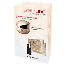 Buy Shiseido Benefiance Wrinkle Resist24 Eye Cream Set Online at johnlewis.com