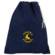 Buy Colfe's School Unisex Cotton PE Bag, Navy Blue Online at johnlewis.com