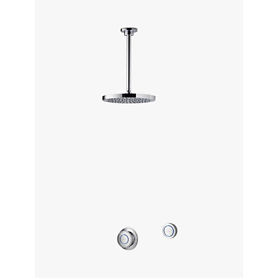 Aqualisa Rise XT Digital Concealed HP/Combi Shower with Ceiling Fixed Head