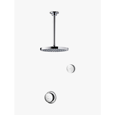 Aqualisa Rise XT Digital Concealed Gravity Pumped Shower with Ceiling Fixed Head and Diverter