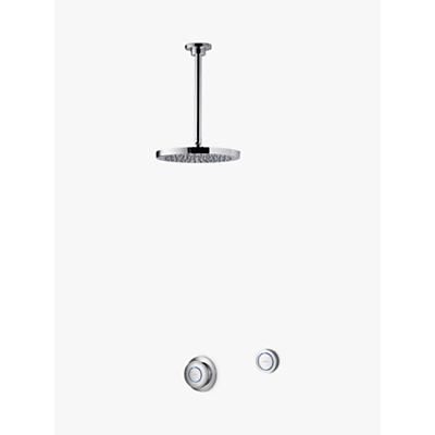 Aqualisa Rise XT Digital Concealed Gravity Pumped Shower with Ceiling Fixed Head