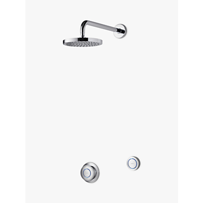 Aqualisa Rise XT Digital Concealed Gravity Pumped Shower with Wall Fixed Head