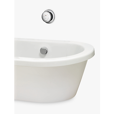 Aqualisa Rise XT Digital Gravity Pumped Bath with Overflow Filler