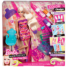 Buy Barbie Hairtastic Colour & Design Salon Doll Online at johnlewis.com
