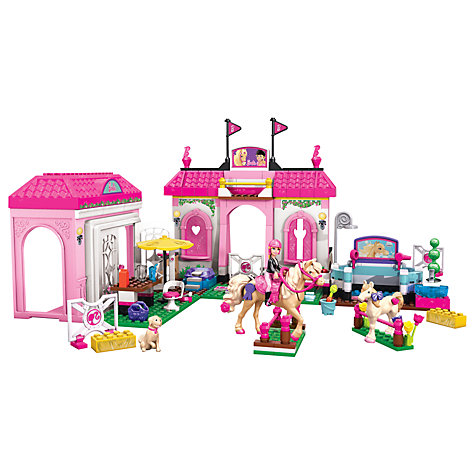 Buy Build 'n' Play Mega Bloks Barbie Horse Stable Online at johnlewis.com