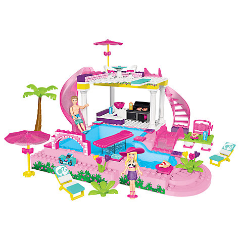 Buy Barbie Build 'n' Play Pool Party Set Online at johnlewis.com