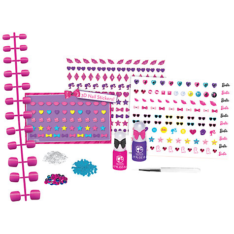 Buy Barbie 3D Nail Art Design Set Online at johnlewis.com