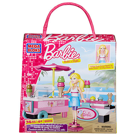 Buy Barbie Mega Bloks Build 'n Play Ice Cream Cart Online at johnlewis.com
