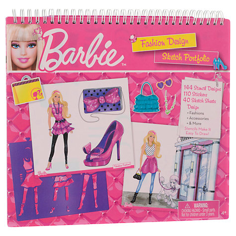 Buy Barbie Fashion Design Sketch Portfolio Online at johnlewis.com