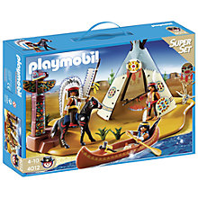 Buy Playmobil Native American Camp Online at johnlewis.com