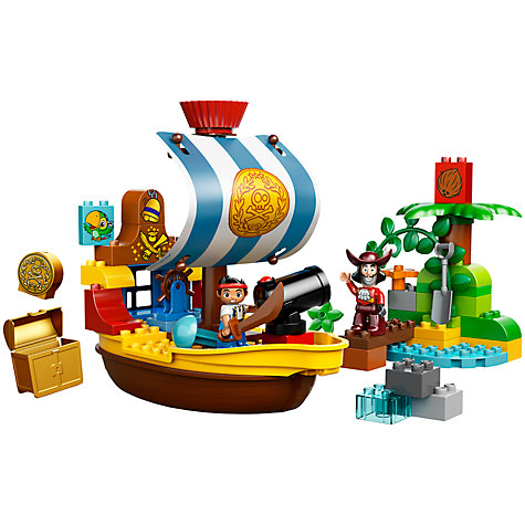 Buy LEGO Duplo Jake Pirate Ship Bucky Online at johnlewis.com