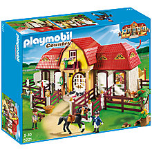 Buy Playmobil Large Pony Farm Online at johnlewis.com