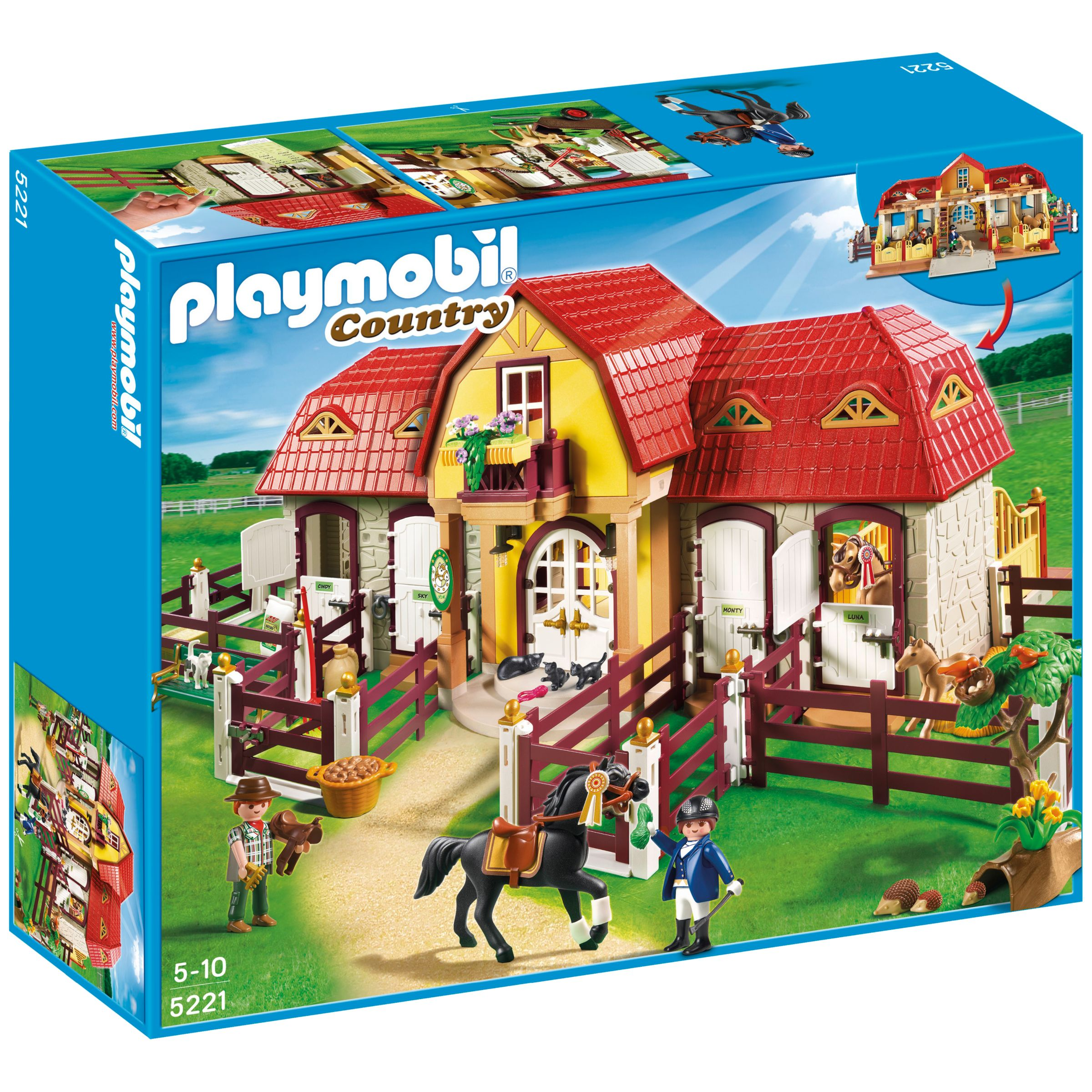 Click here for Playmobil Country Large Pony Farm Set