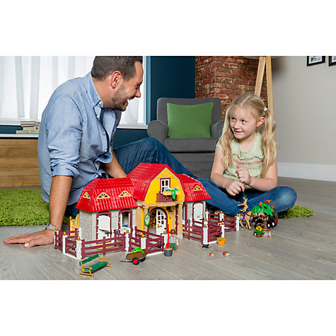 Buy Playmobil Large Pony Farm Set Online at johnlewis.com