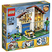 Buy LEGO Creator 3-in-1 Family Home Online at johnlewis.com