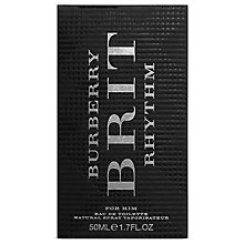 Buy Burberry Brit Rhythm Men Eau de Toilette, 90ml Online at johnlewis.com