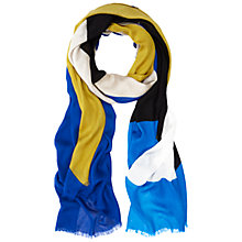 Buy Hobbs Geo Block Scarf, Cobalt/Multi Online at johnlewis.com