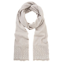 Buy Mint Velvet Wool Blend Scarf, Natural Online at johnlewis.com