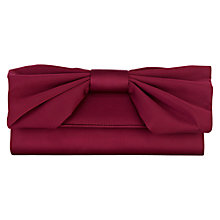 Buy Coast Bailey Bow Clutch, Mulberry Online at johnlewis.com