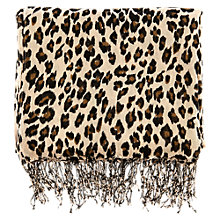 Buy Warehouse Modern Leopard Print Scarf, Camel Online at johnlewis.com