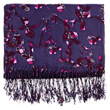 Buy Warehouse Iris Print Scarf, Purple Online at johnlewis.com