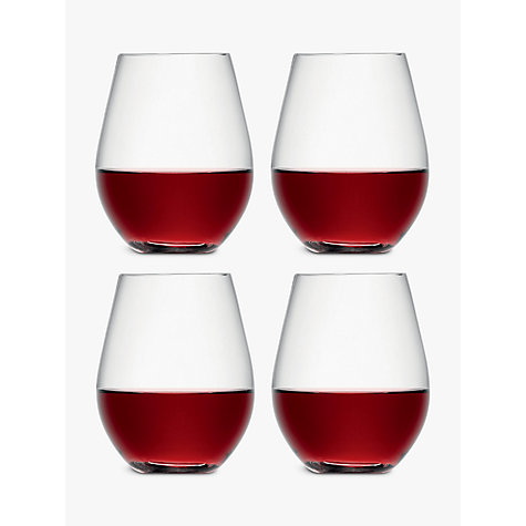 Buy LSA Wine Stemless Red Wine Glasses, 0.53L, Set of 4 Online at johnlewis.com