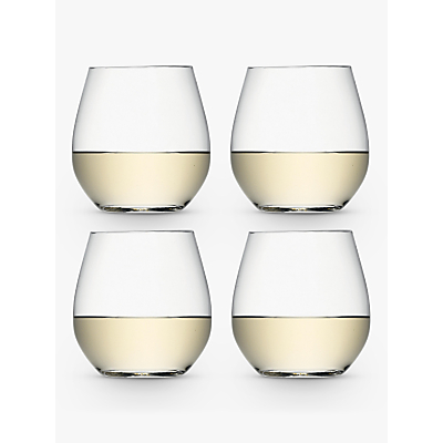LSA International Wine Collection Stemless White Wine Glasses, Set of 4