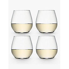 Buy LSA International Wine Collection Stemless White Wine Glasses, Set of 4 Online at johnlewis.com