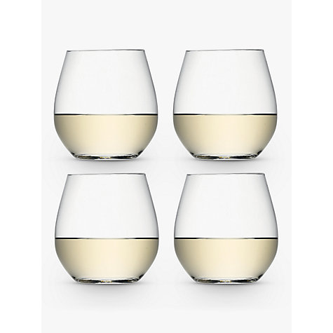 Buy LSA Wine Stemless White Wine Glasses, 0.37L, Set of 4 Online at johnlewis.com