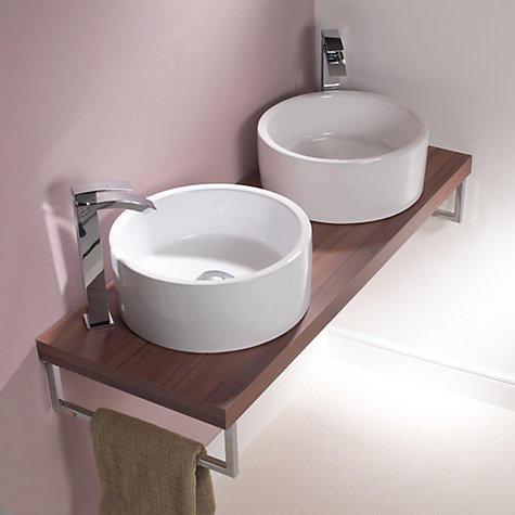 Buy John Lewis Pisa Round Countertop Bathroom Sink Basin, Dia.40.5cm Online at johnlewis.com
