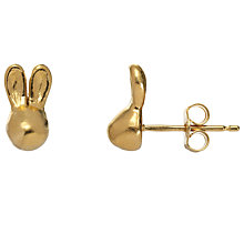 Buy Alexis Dove 18ct Gold Vermeil Rabbit Stud Earrings Online at johnlewis.com