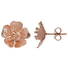 Buy Alexis Dove Sterling Silver Wild Rose Stud Earrings Online at johnlewis.com