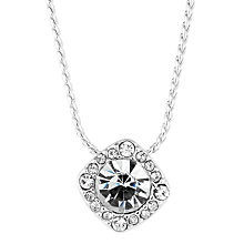 Buy Alan Hannah Clara Square Crystal Pendant, Silver Online at johnlewis.com