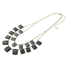 Buy Adele Marie Rectangle Stone Double Row Statement Necklace, Grey Online at johnlewis.com