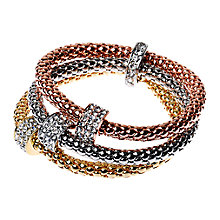 Buy Adele Marie Triple Row Diamante Charm Friendship Bracelet, Multi Online at johnlewis.com