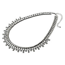 Buy Adele Marie Diamante Detail Fancy Chain Necklace, Silver Online at johnlewis.com