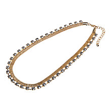Buy Adele Marie Diamante Row Rope Necklace, Gold Online at johnlewis.com