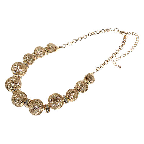 Buy Adele Marie Mesh Beads And Diamante Necklace Online at johnlewis.com
