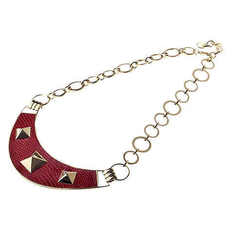 Buy Adele Marie Faux Snakeskin Crescent Pyramid Detail Necklace Online at johnlewis.com